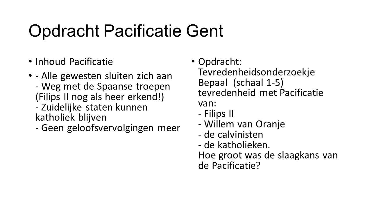 Opdracht Pacificatie Gent
