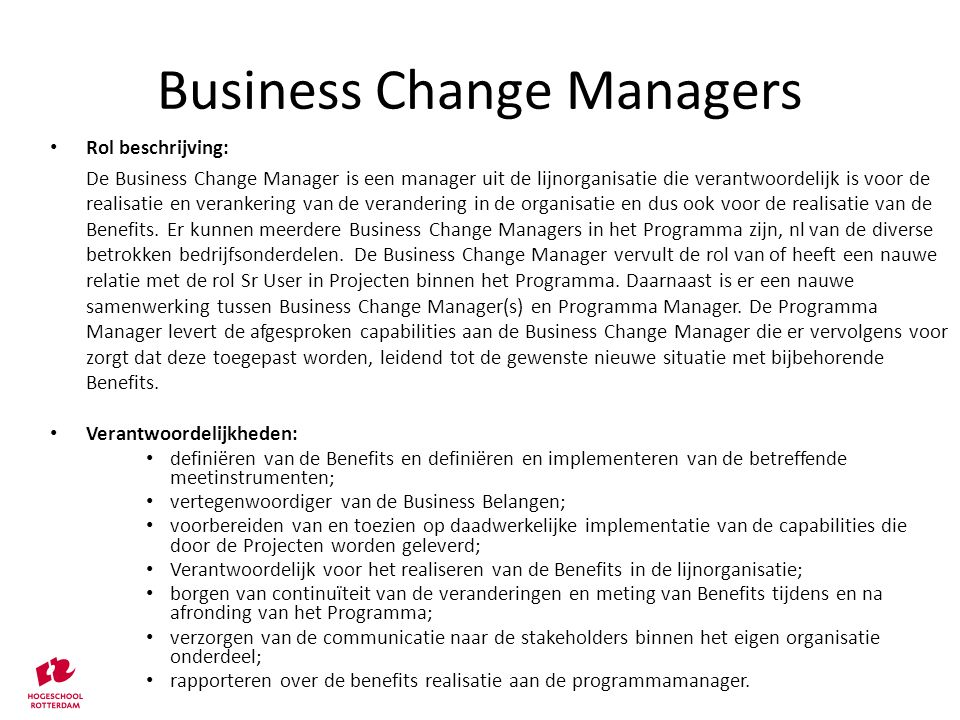 Business Change Managers