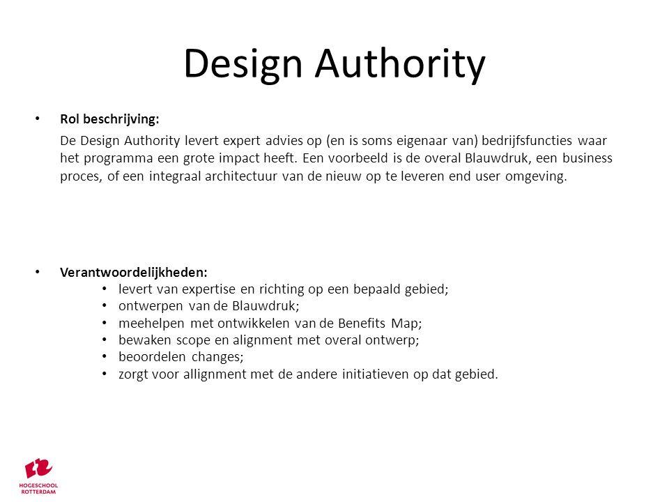 Design Authority Rol beschrijving: