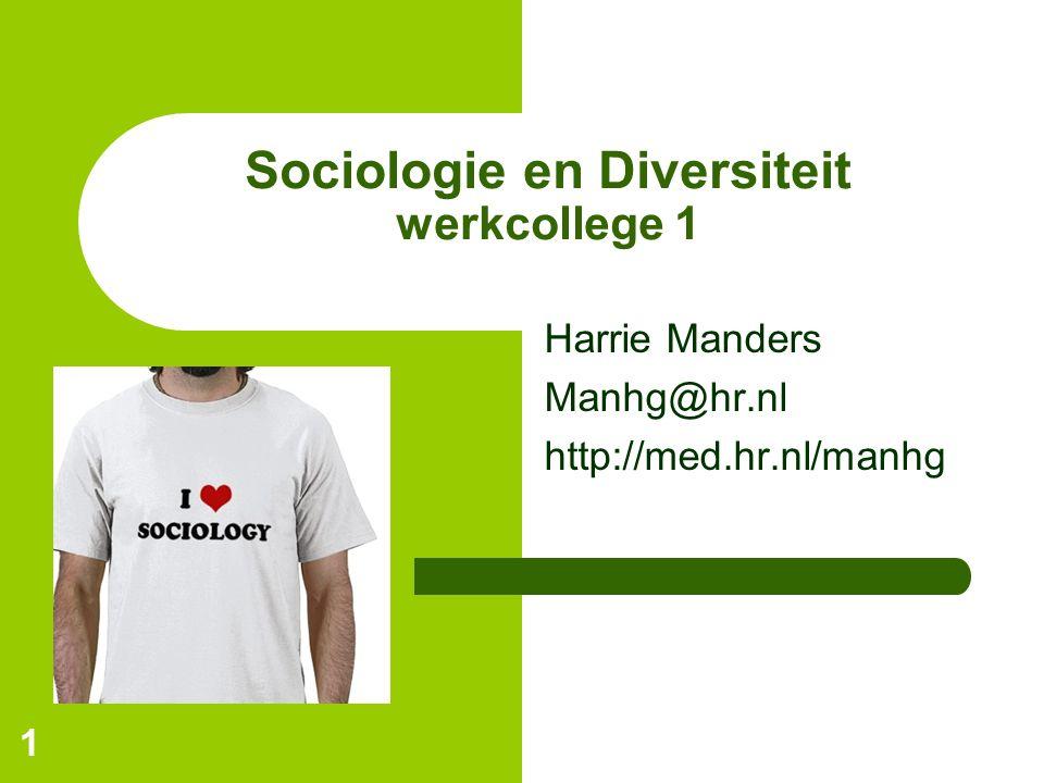 Sociologie en Diversiteit werkcollege 1