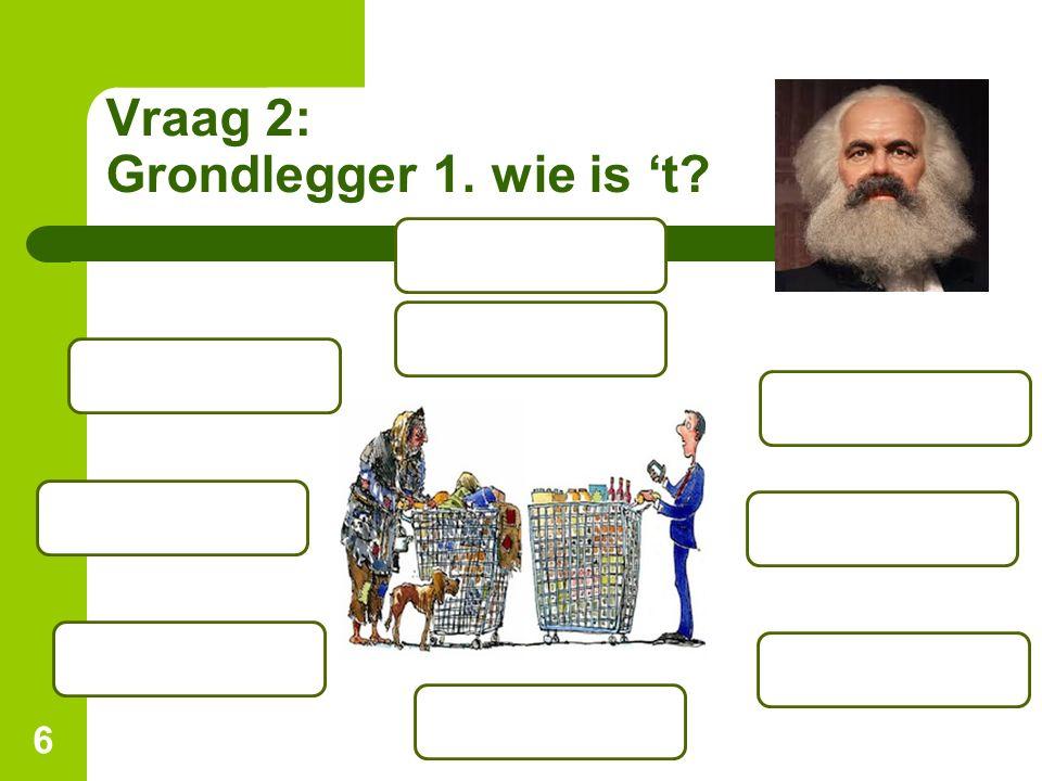Vraag 2: Grondlegger 1. wie is 't