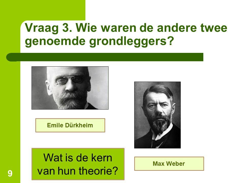 Vraag 3. Wie waren de andere twee genoemde grondleggers