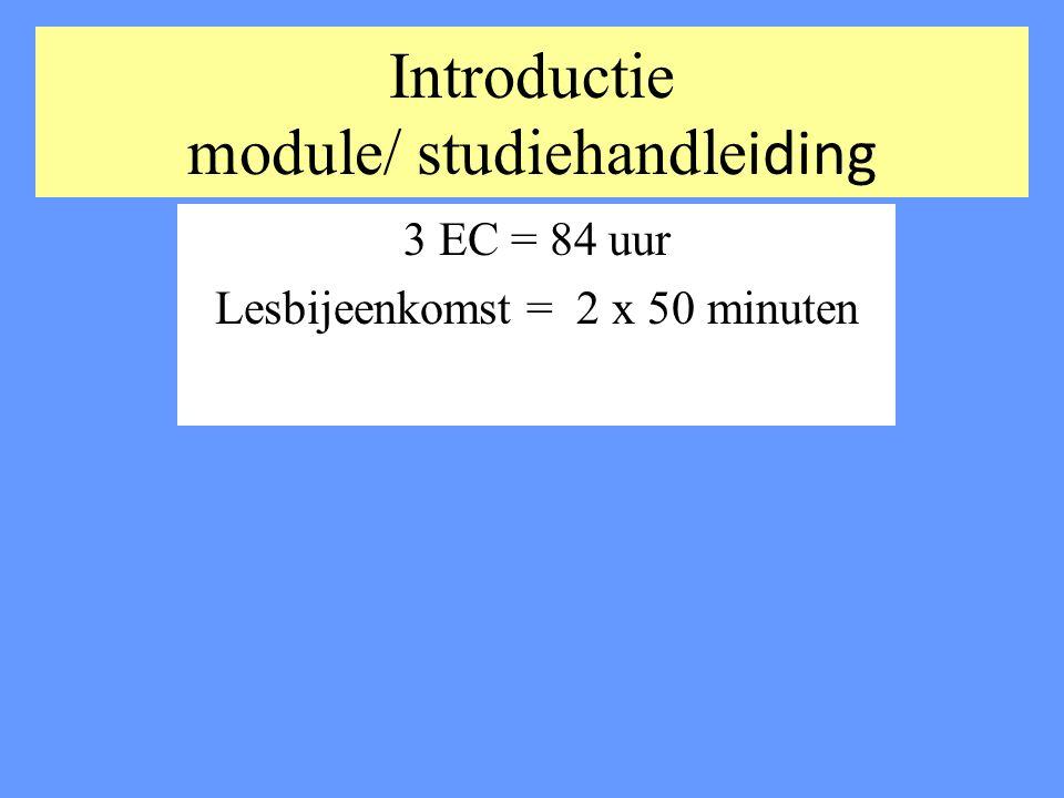 Introductie module/ studiehandleiding