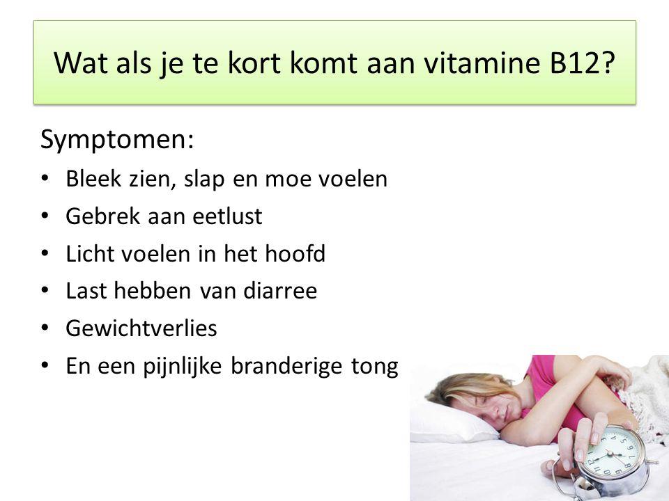 Wat als je te kort komt aan vitamine B12