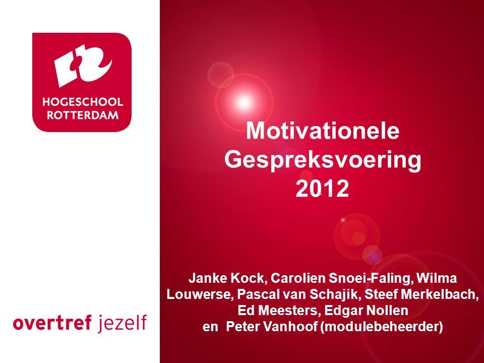 Motivationele Gespreksvoering en Peter Vanhoof (modulebeheerder)