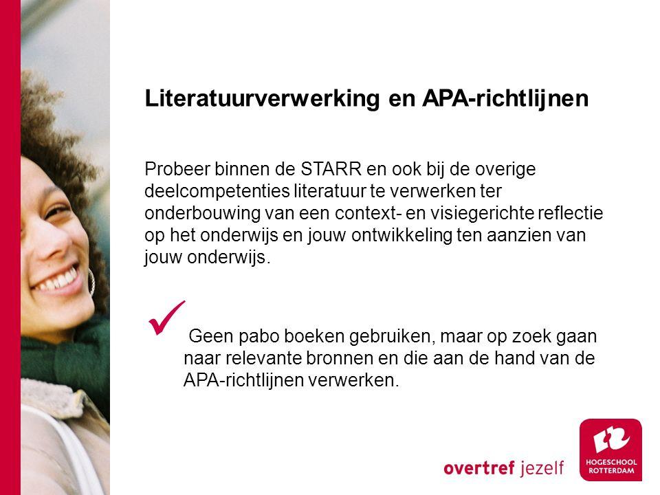 Literatuurverwerking en APA-richtlijnen