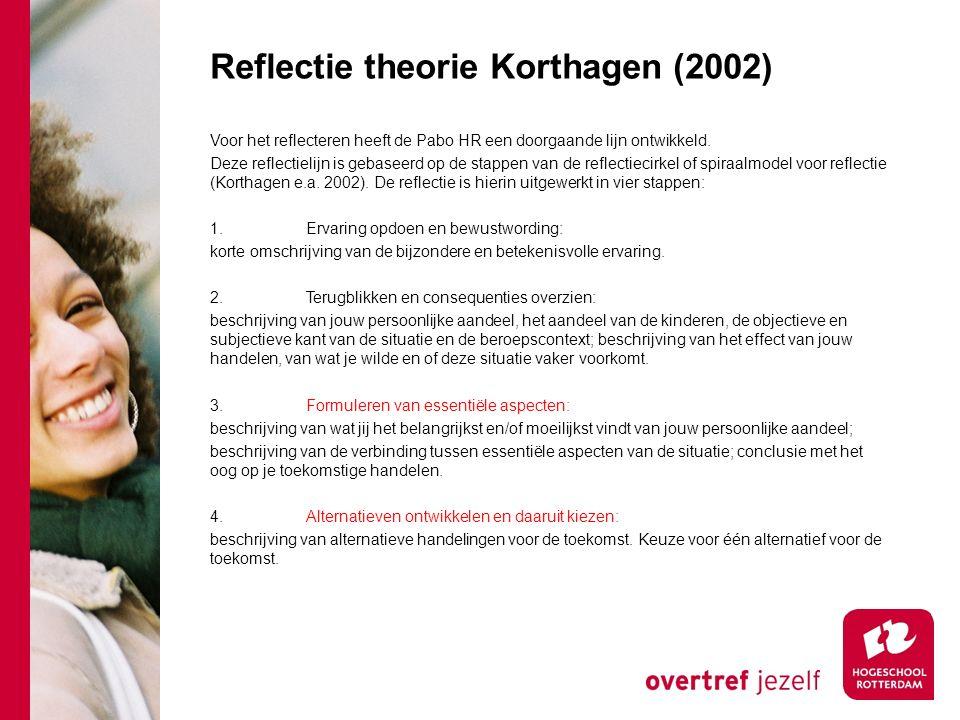 Reflectie theorie Korthagen (2002)