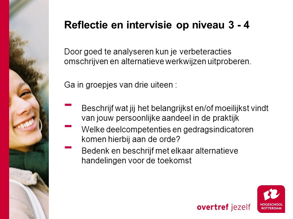 Reflectie en intervisie op niveau 3 - 4