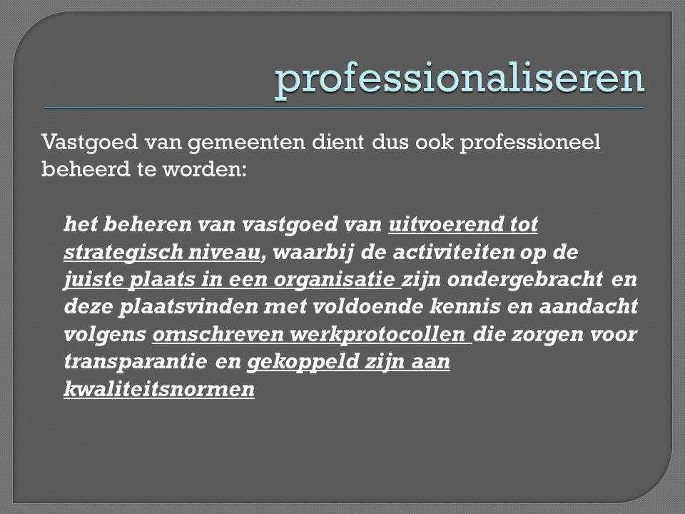 professionaliseren