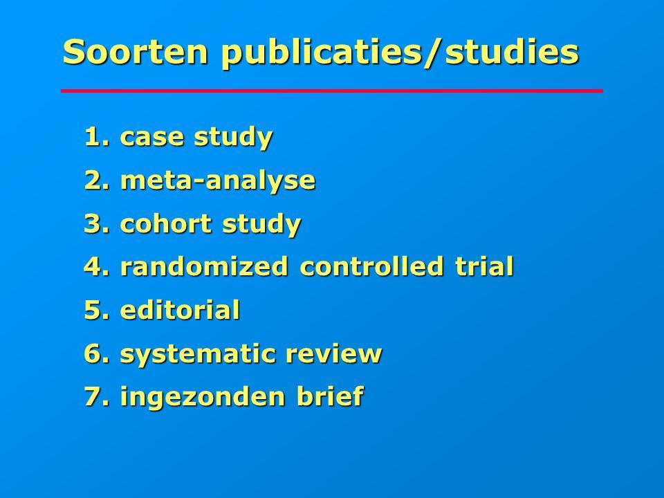 Soorten publicaties/studies