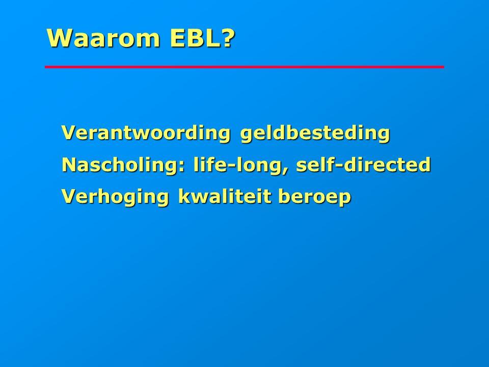 Waarom EBL Verantwoording geldbesteding