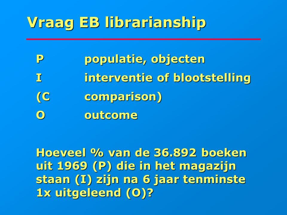 Vraag EB librarianship
