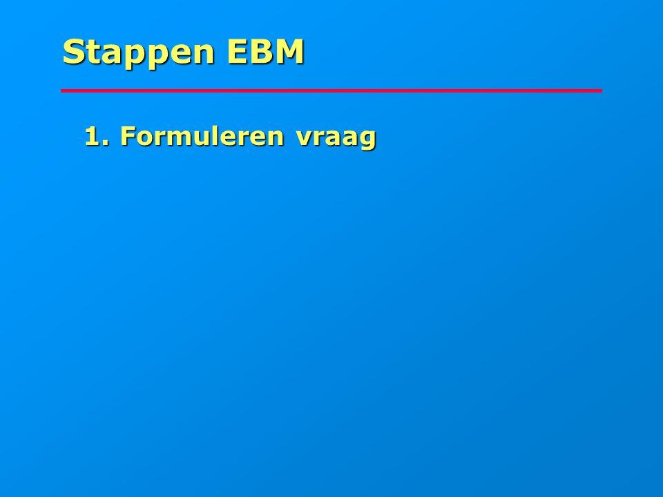 Stappen EBM 1. Formuleren vraag