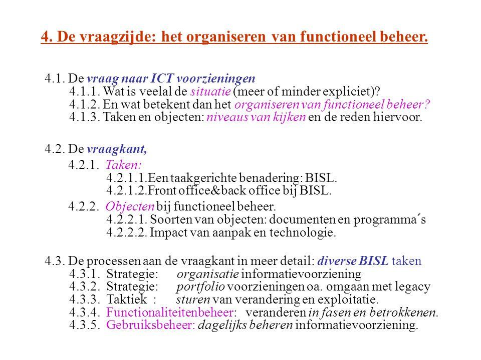 4. De vraagzijde: het organiseren van functioneel beheer.
