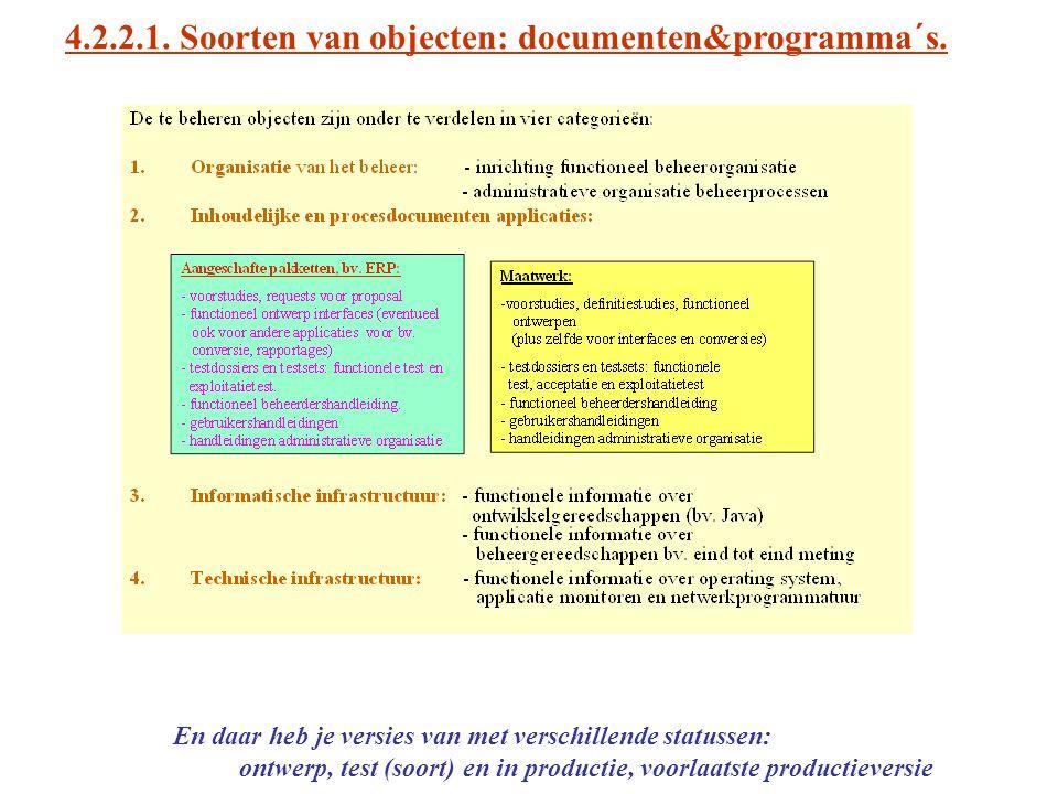4.2.2.1. Soorten van objecten: documenten&programma´s.