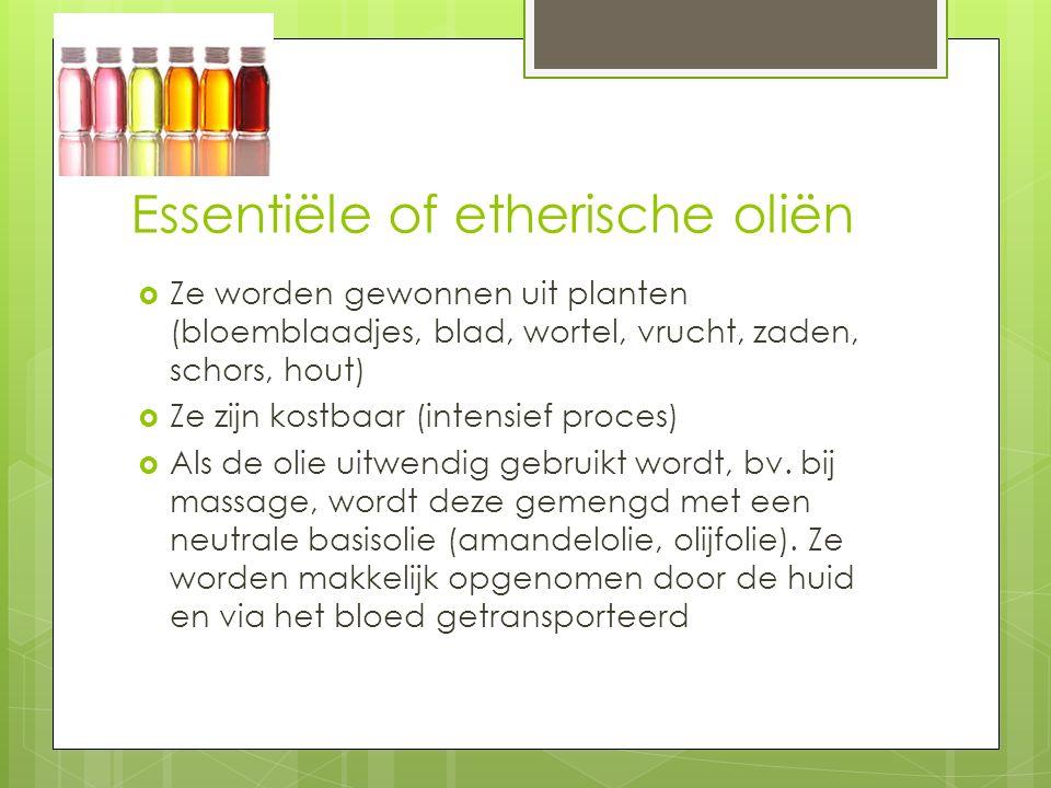 Essentiële of etherische oliën
