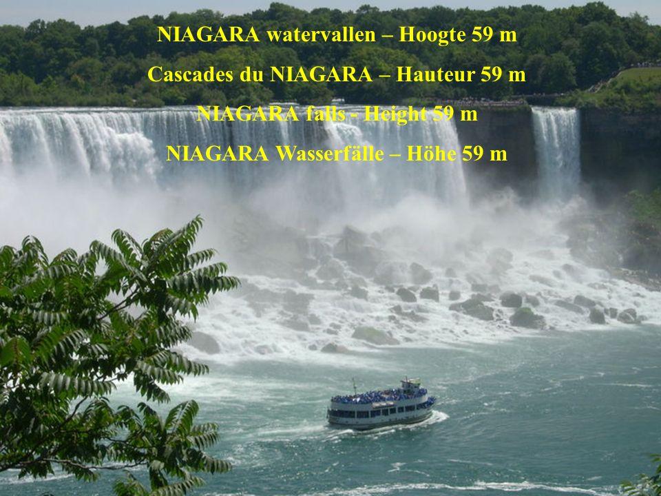 NIAGARA watervallen – Hoogte 59 m Cascades du NIAGARA – Hauteur 59 m