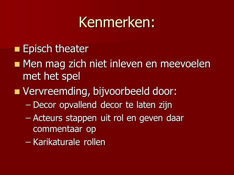 Kenmerken: Episch theater