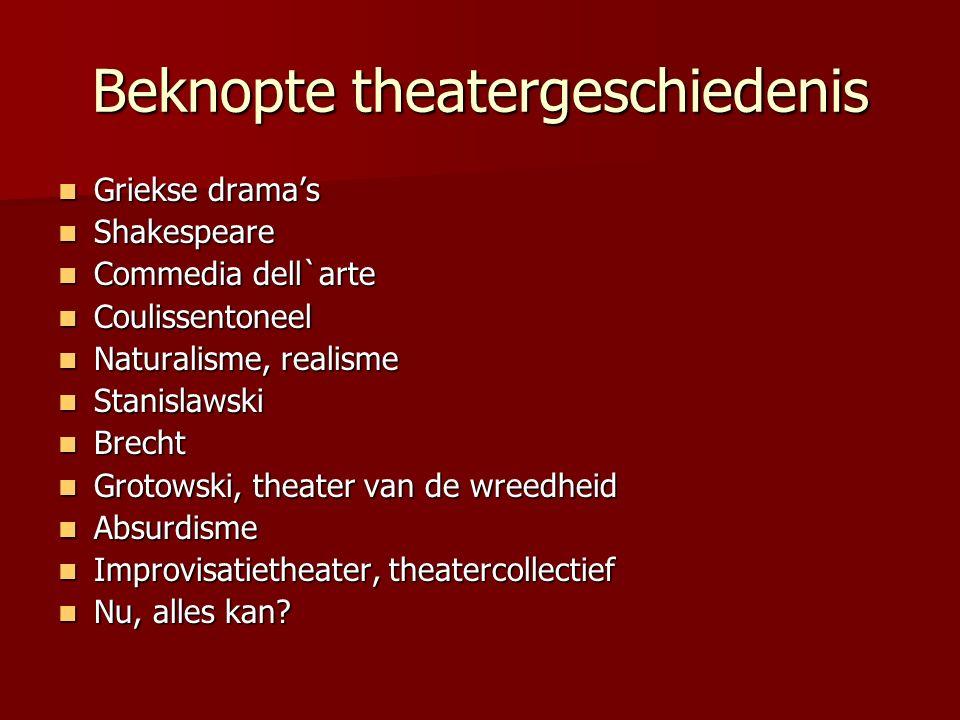 Beknopte theatergeschiedenis