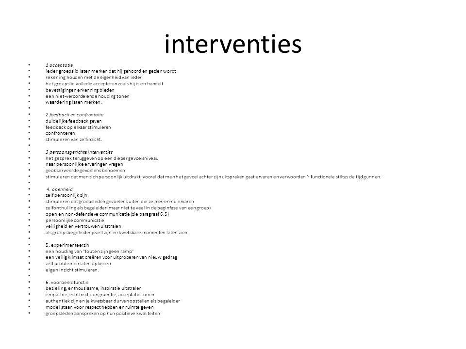 interventies 1 acceptatie