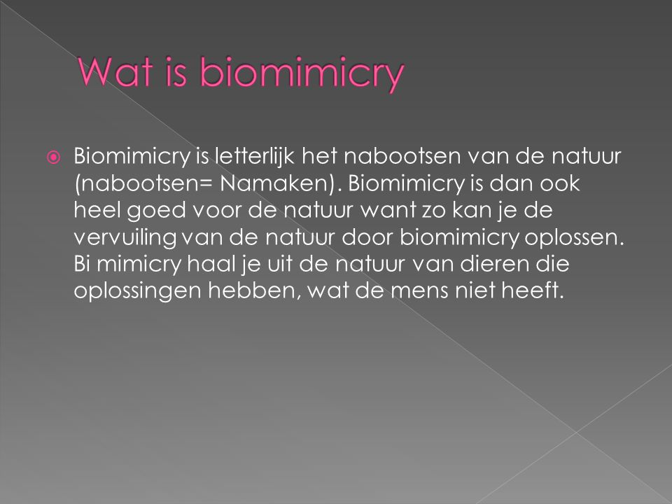 Wat is biomimicry