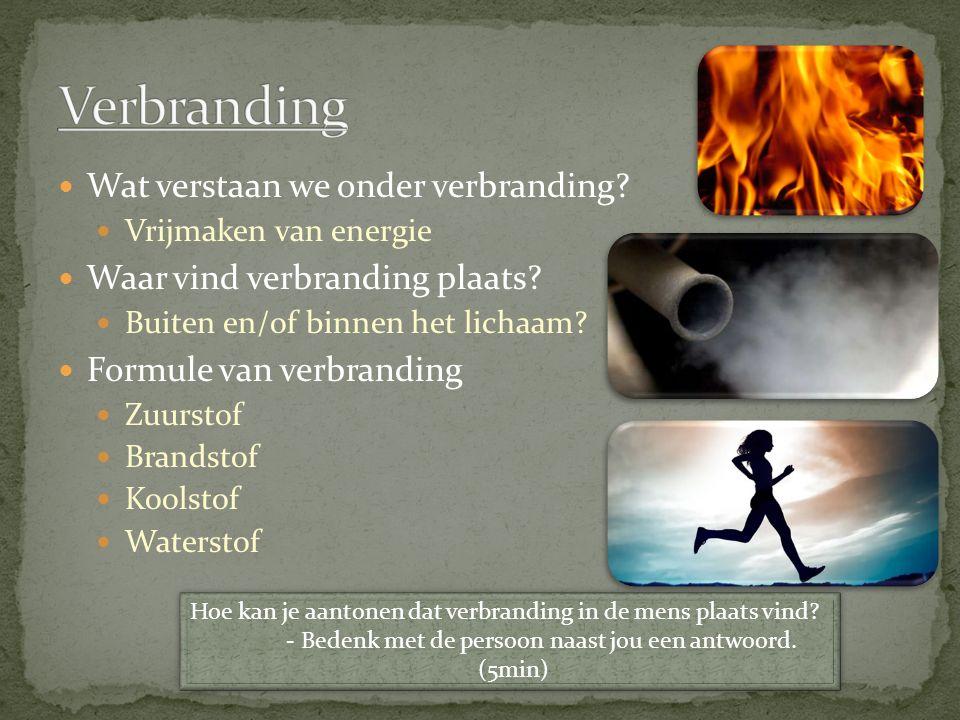 Verbranding Wat verstaan we onder verbranding