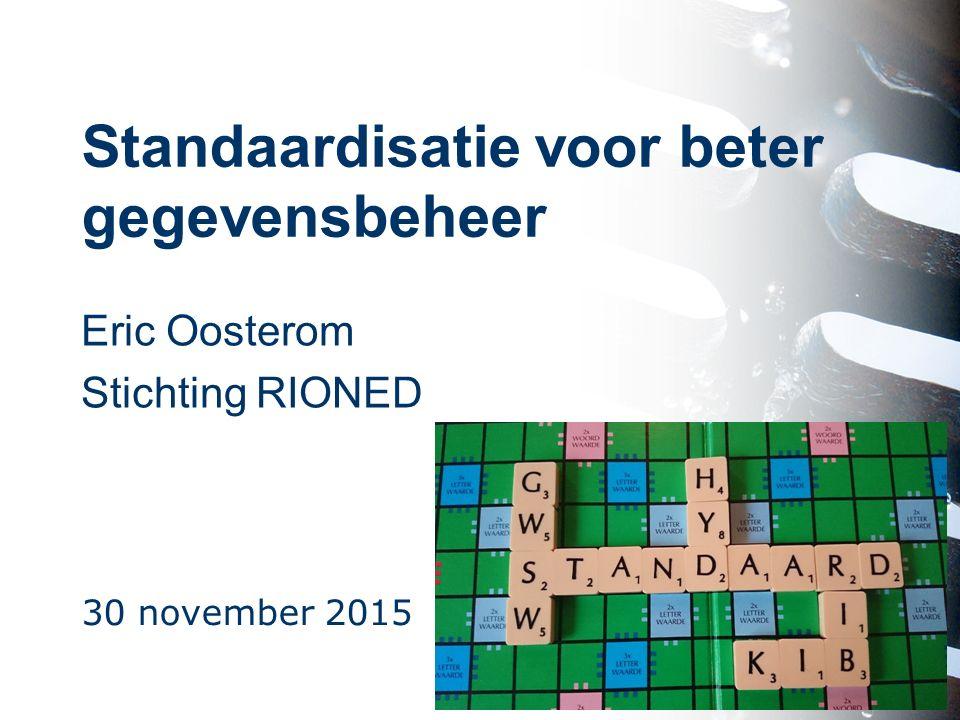 Standaardisatie voor beter gegevensbeheer