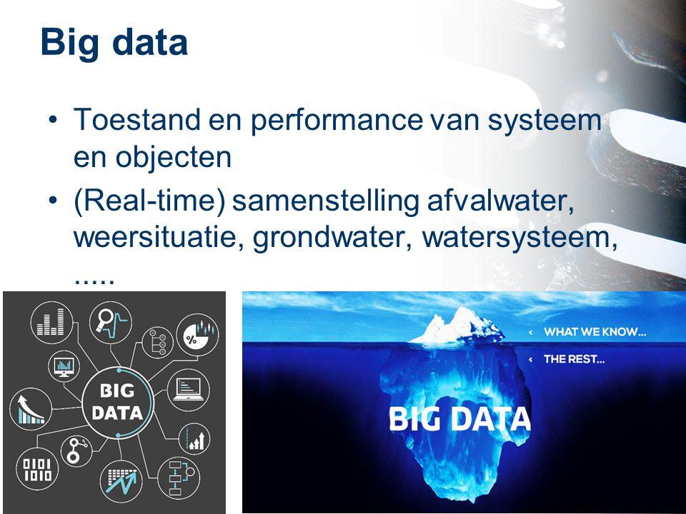 Big data Toestand en performance van systeem en objecten