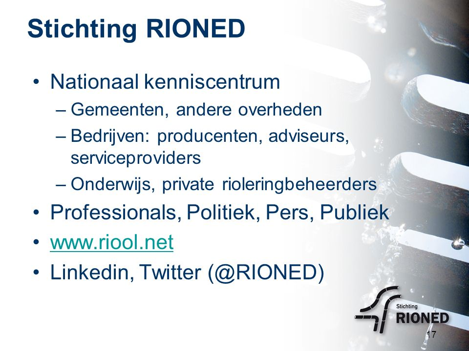 Stichting RIONED Nationaal kenniscentrum