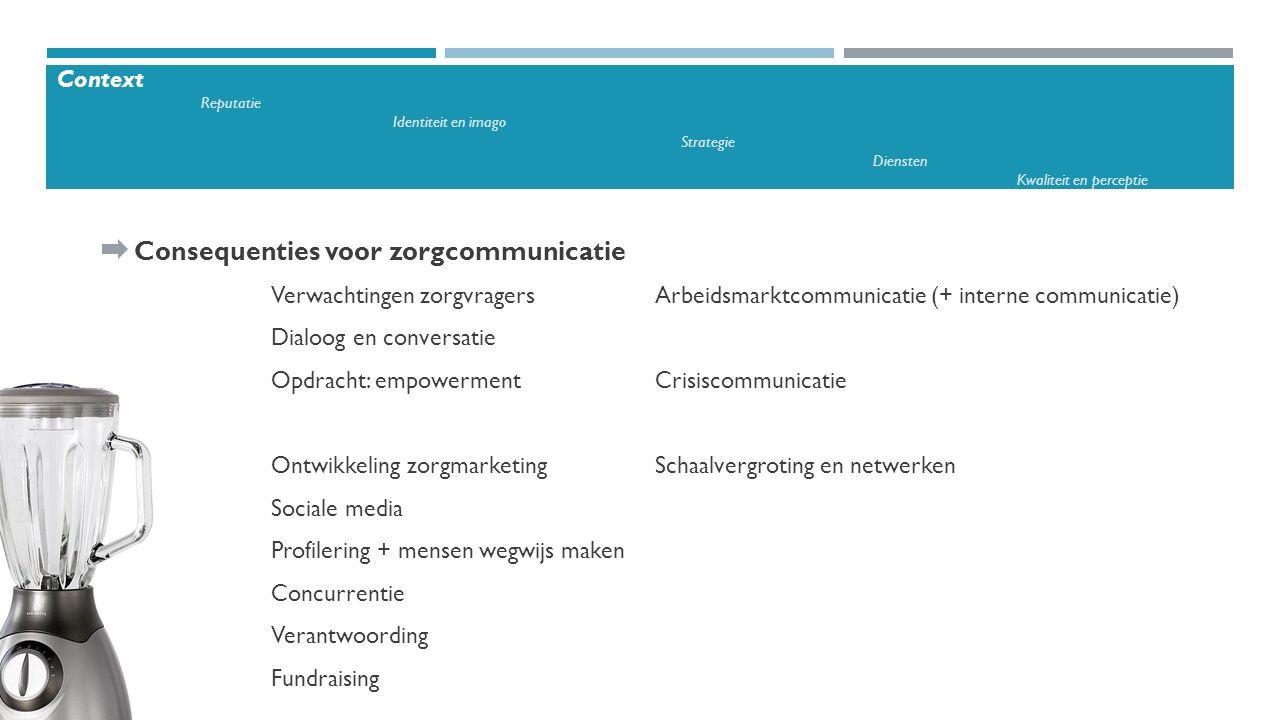 Consequenties voor zorgcommunicatie