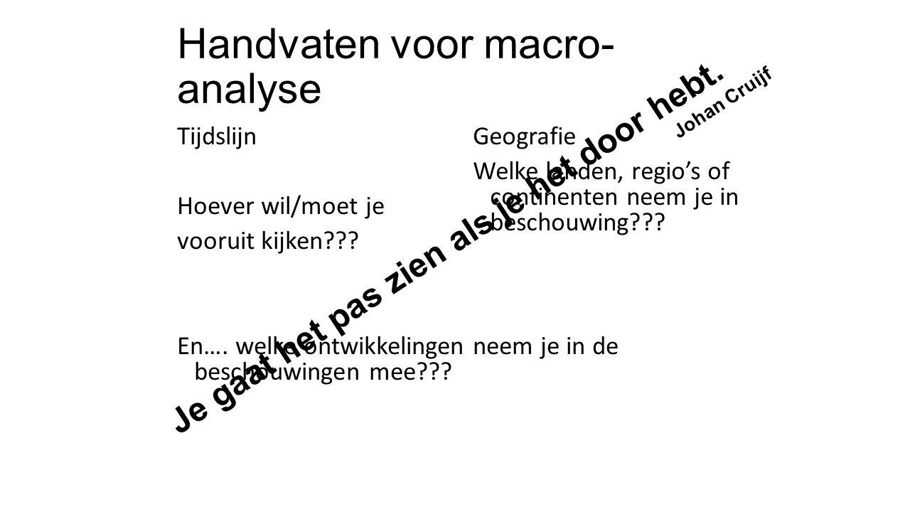 Handvaten voor macro-analyse
