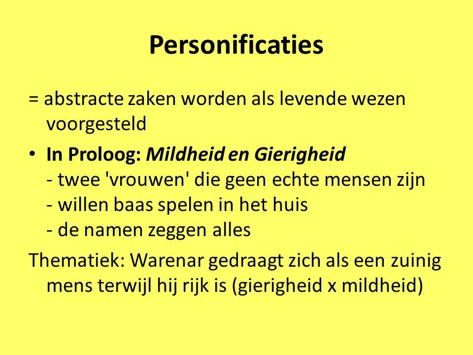 Personificaties = abstracte zaken worden als levende wezen voorgesteld