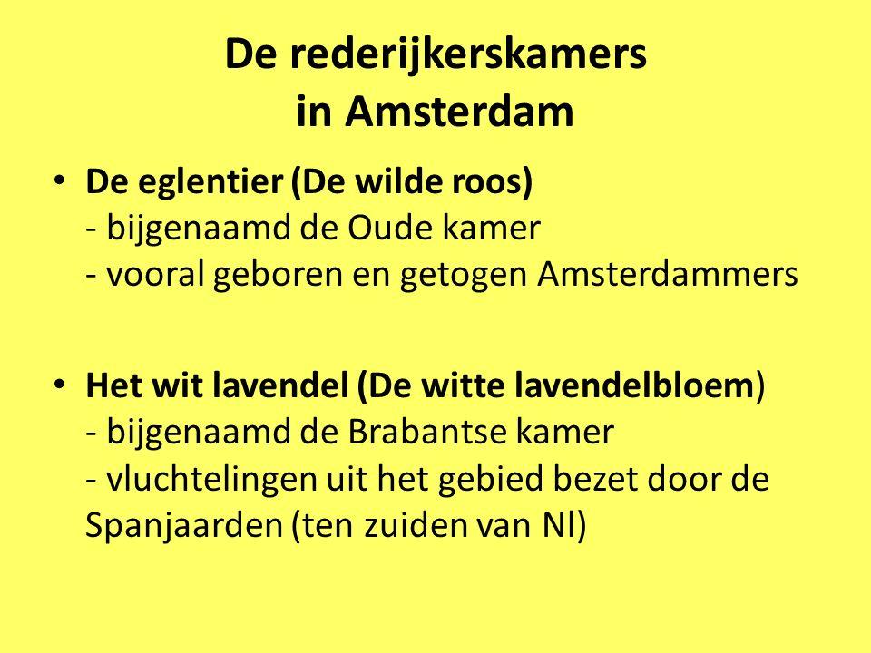 De rederijkerskamers in Amsterdam