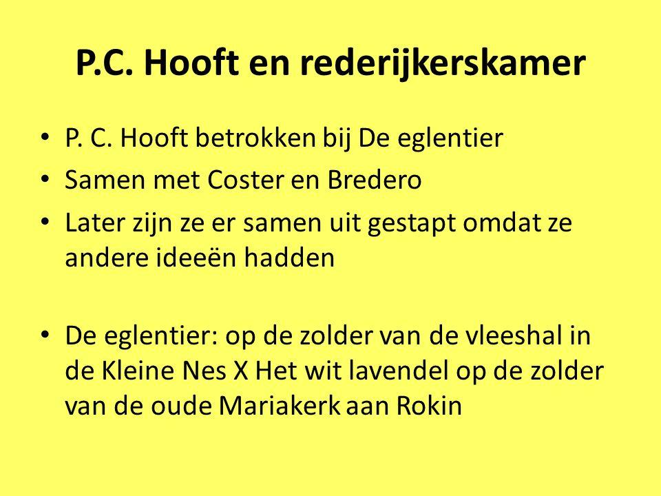 P.C. Hooft en rederijkerskamer