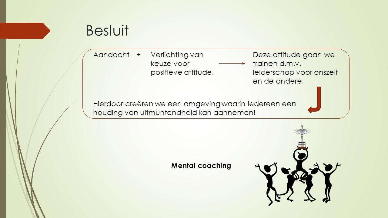 Besluit Aandacht + Verlichting van keuze voor positieve attitude.