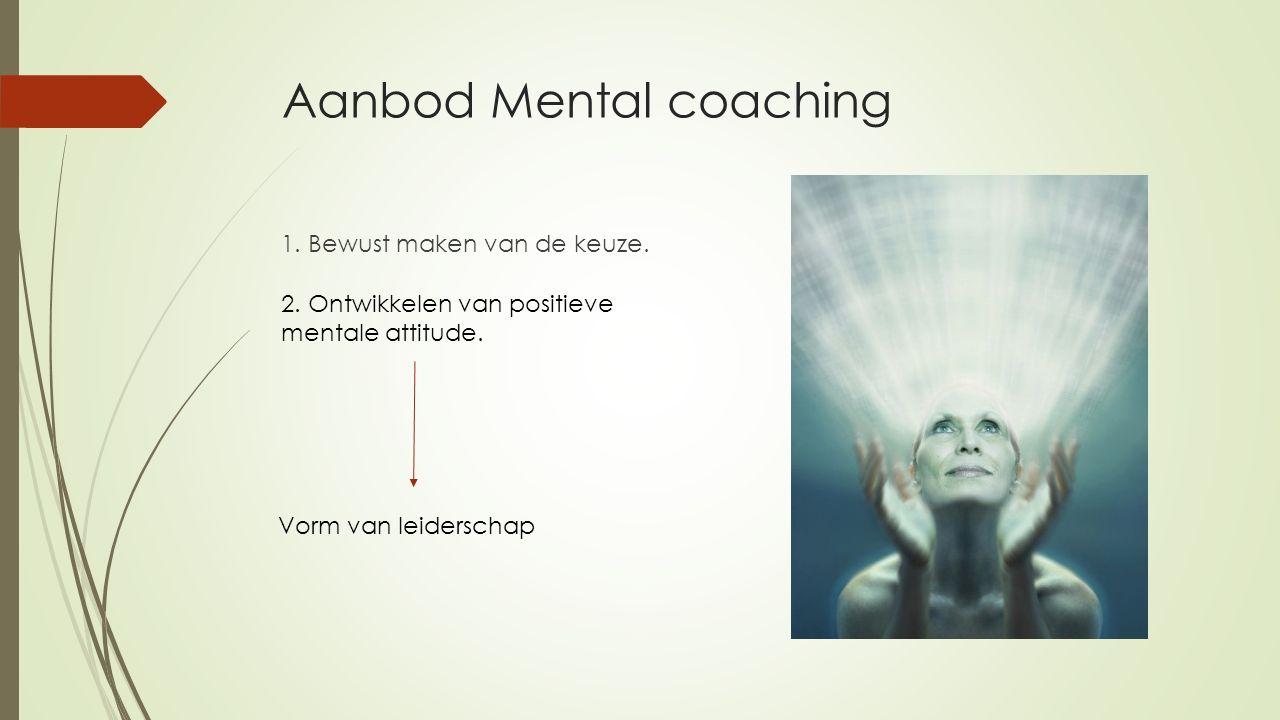 Aanbod Mental coaching