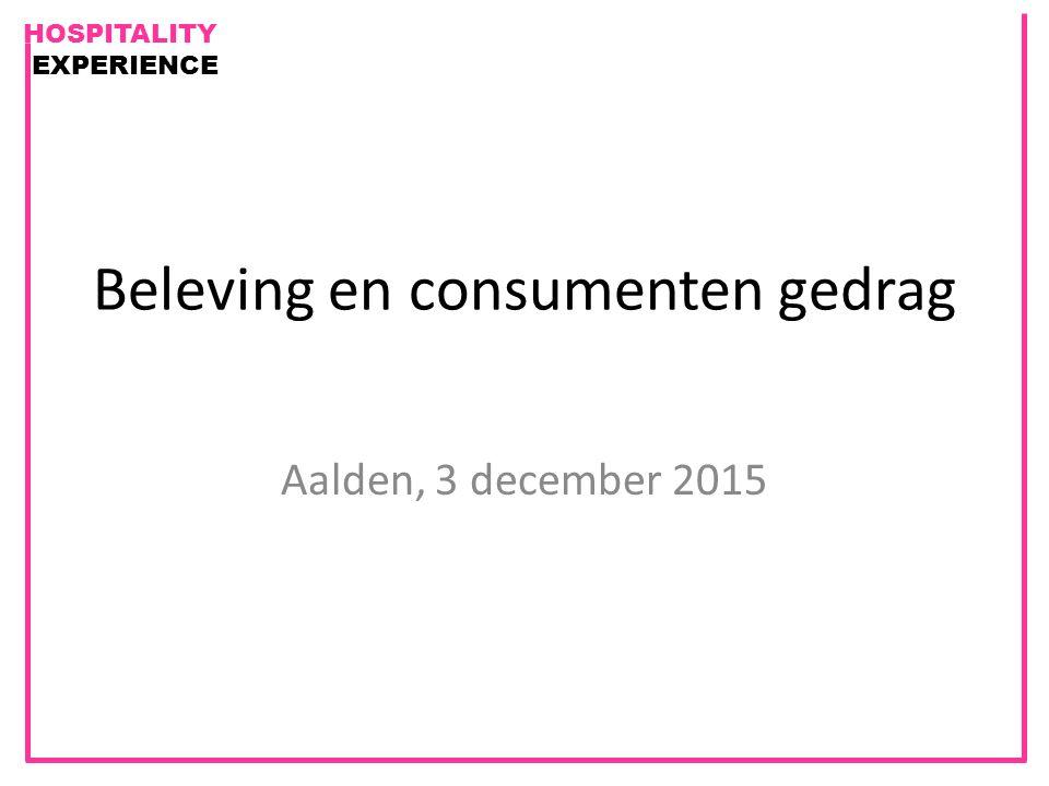 Beleving en consumenten gedrag