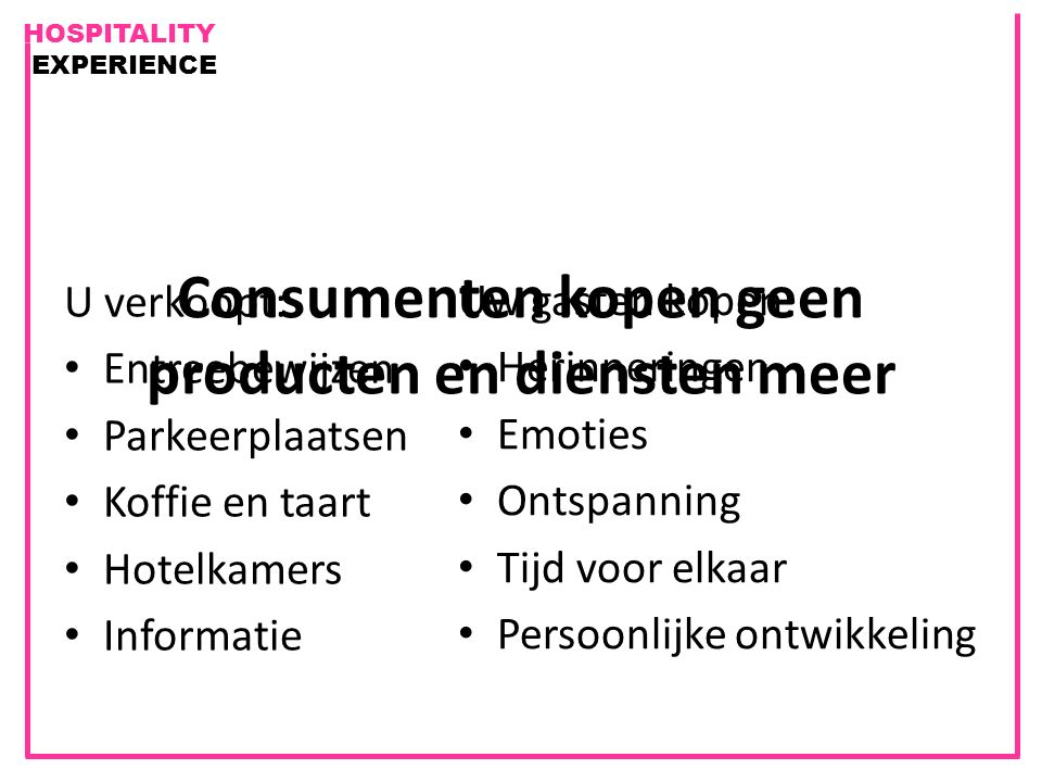 Consumenten kopen geen producten en diensten meer