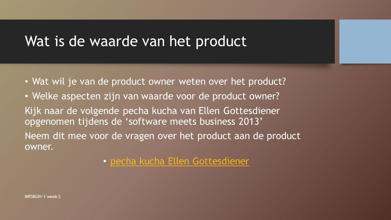 Wat is de waarde van het product