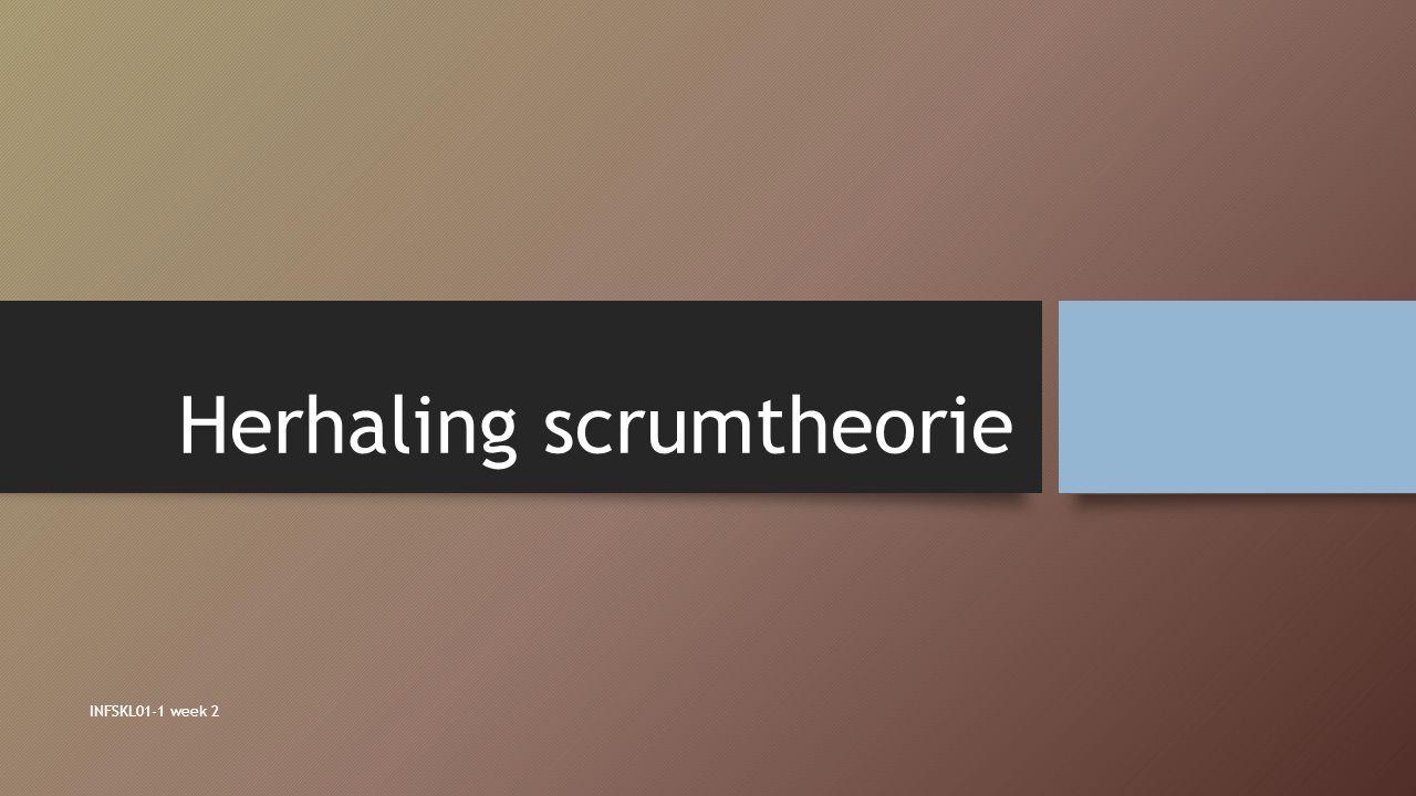 Herhaling scrumtheorie