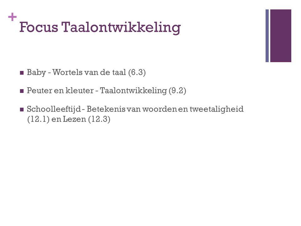 Focus Taalontwikkeling