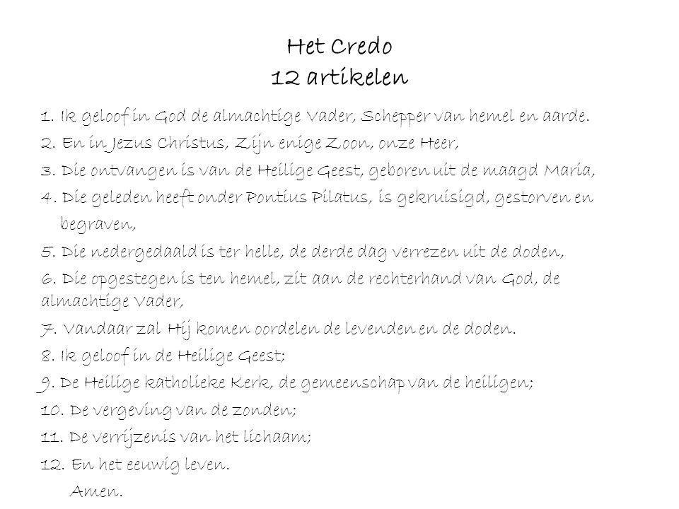Het Credo 12 artikelen