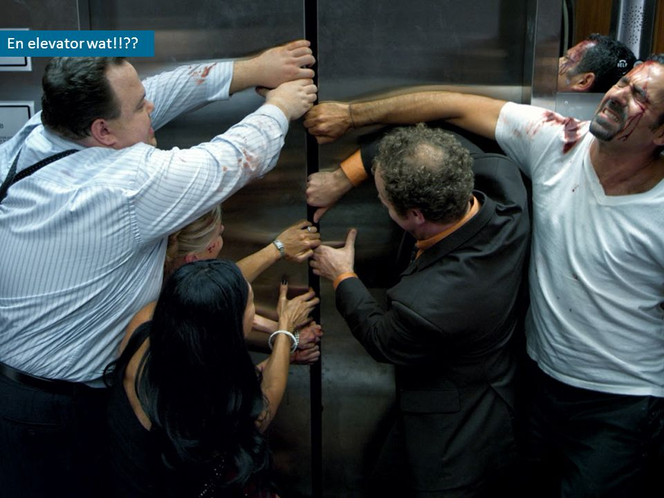 En elevator wat!!