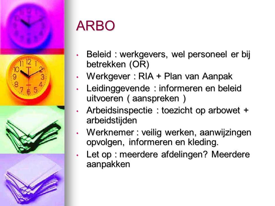 ARBO Beleid : werkgevers, wel personeel er bij betrekken (OR)