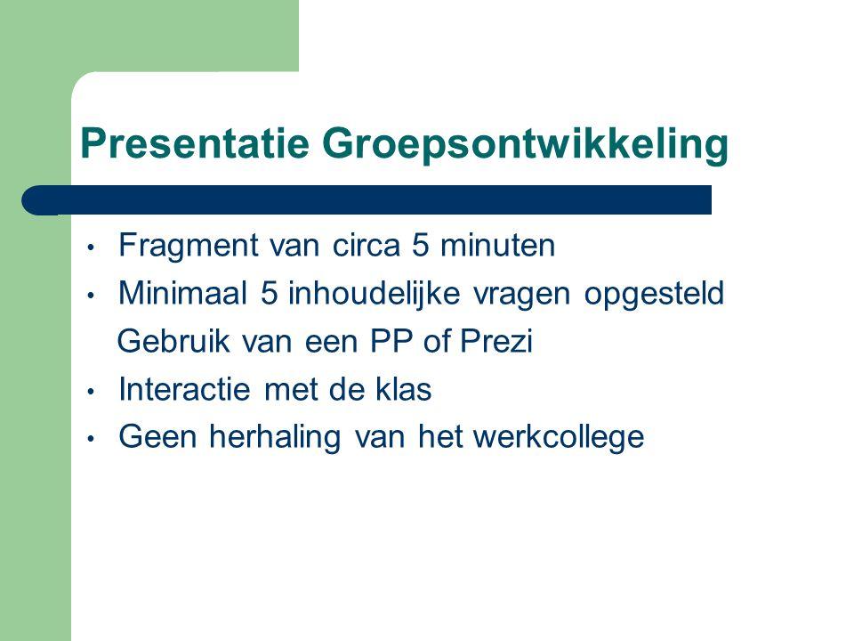 Presentatie Groepsontwikkeling