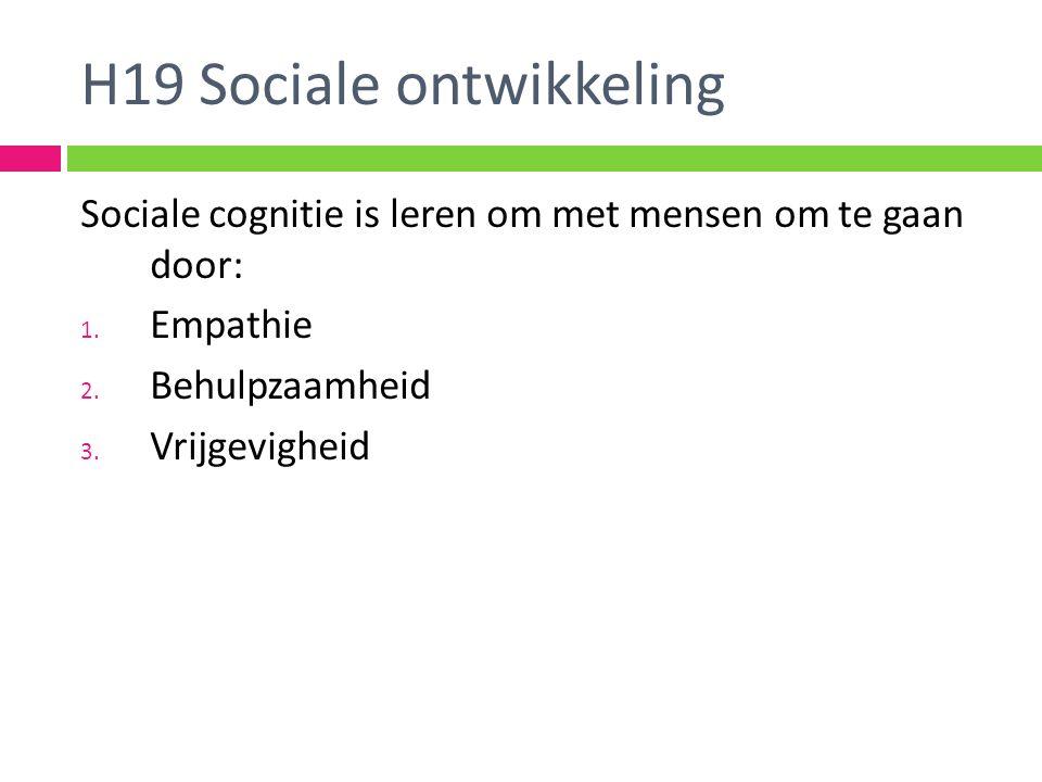 H19 Sociale ontwikkeling