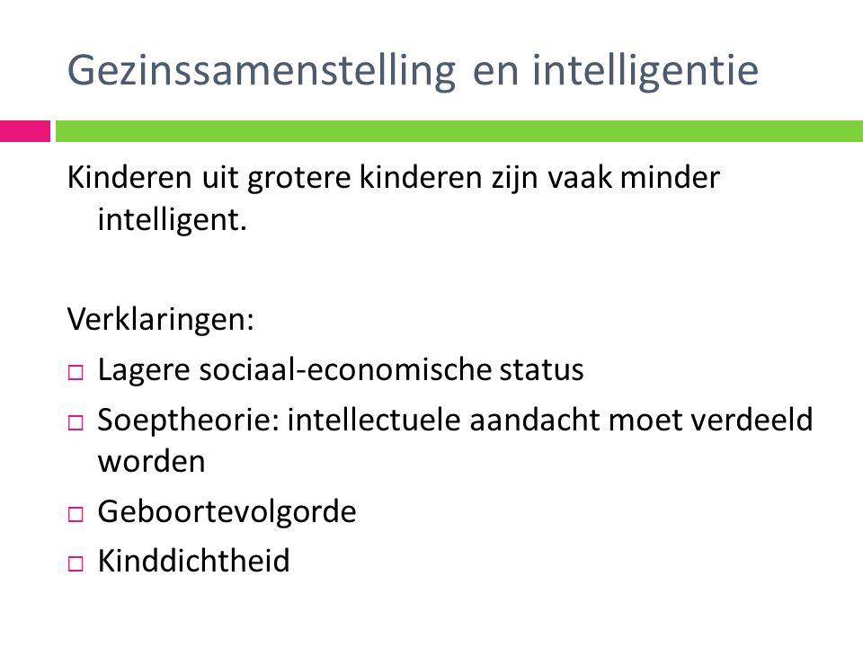 Gezinssamenstelling en intelligentie