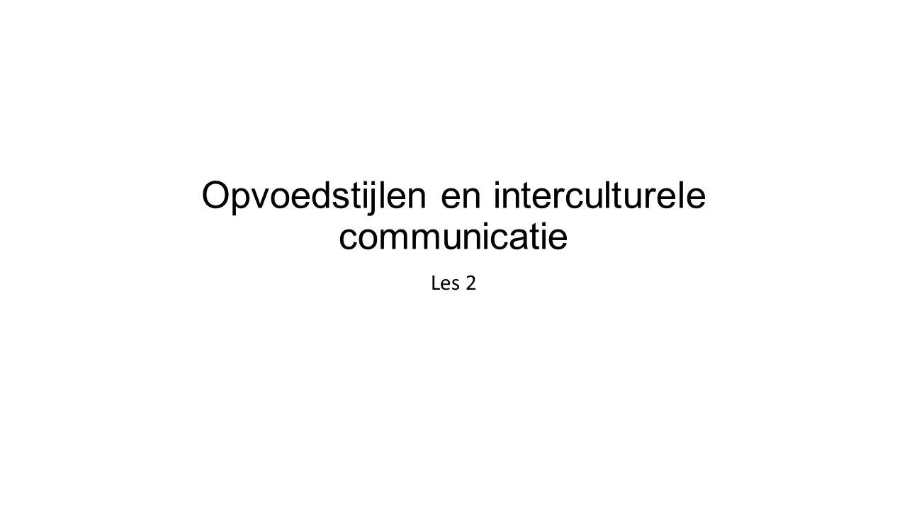 Opvoedstijlen en interculturele communicatie