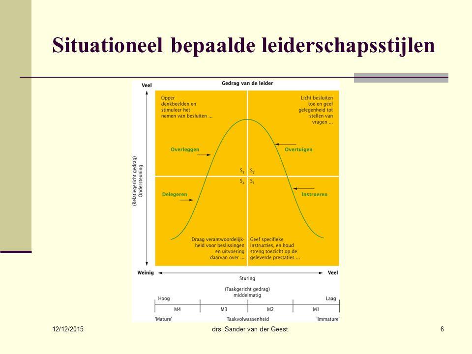 Situationeel bepaalde leiderschapsstijlen