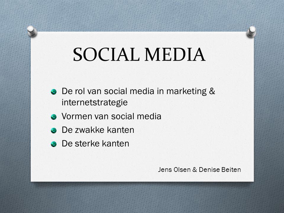 SOCIAL MEDIA De rol van social media in marketing & internetstrategie